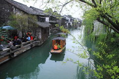 China ,wuzhen Water Village in spring Royalty Free Stock Photography