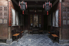 China& x27;s most has the style of the buildings in sign sent yard Royalty Free Stock Images