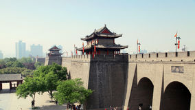 China Xi'an ancient city wall. Eastphoto, tukuchina,  China Xi'an ancient city wall Royalty Free Stock Photography