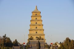 China (xi 'an wild goose pagoda) and datang city scenic area in shaanxi province Royalty Free Stock Photo