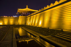 China (xi 'an wild goose pagoda) and datang city scenic area in shaanxi province Stock Photos
