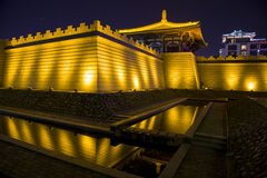 China (xi 'an wild goose pagoda) and datang city scenic area in shaanxi province Stock Photography