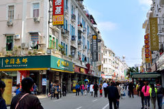 China, Xiamen city, shopping street. Commerical street of Zhongshan road, Xiamen city, China. Xiamen is a harbor city and a famous tourism destination located in Royalty Free Stock Images