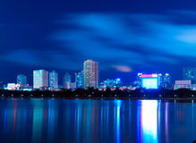 China Xiamen night scene Royalty Free Stock Photo