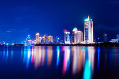 China Xiamen night scene Royalty Free Stock Images