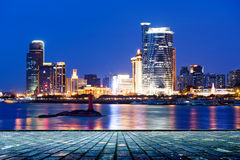 China Xiamen night scene Royalty Free Stock Photography