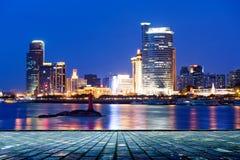 China Xiamen night scene Royalty Free Stock Photography