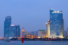 China Xiamen night view Stock Image