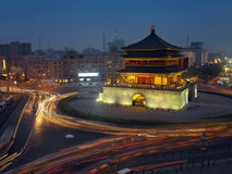 China - Xian Belltower. The Xian Bell tower in the city of Xian in Shaaxi Province in central China Royalty Free Stock Images