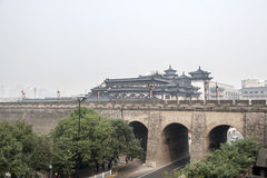 China: Xian city wall Royalty Free Stock Image