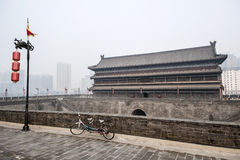 China: Xian city wall stock images