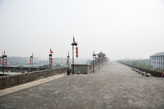 China: Xian city wall Stock Photos