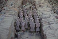CHINA, XIAN - 14 DE MARÇO: Ping Ma Yong, exército da terracota o 14 de março Imagem de Stock Royalty Free