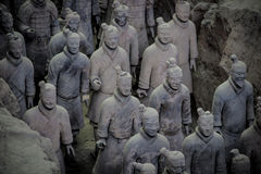 CHINA, XIAN - 14 DE MARZO: Ping Ma Yong, ejército de la terracota el 14 de marzo Fotografía de archivo libre de regalías