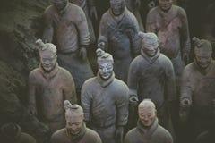 CHINA, XIAN - 14 DE MARZO: Ping Ma Yong, ejército de la terracota el 14 de marzo Imágenes de archivo libres de regalías
