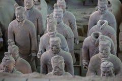 CHINA, XIAN - 14 DE MARZO: Ping Ma Yong, ejército de la terracota el 14 de marzo Fotografía de archivo