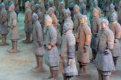 China/Xian: De Strijders en de Paarden van het terracotta Royalty-vrije Stock Fotografie