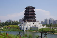 China xian lake park in Seoul Royalty Free Stock Image