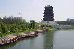 China xian lake park in Seoul Royalty Free Stock Images