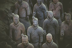CHINA, XIAN - MARCH 14: Ping Ma Yong, Terra cotta army on 14 Mar Royalty Free Stock Images