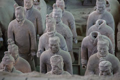 CHINA, XIAN - MARCH 14: Ping Ma Yong, Terra cotta army on 14 Mar Stock Photography