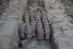 CHINA, XIAN - MARCH 14: Ping Ma Yong, Terra cotta army on 14 Mar Royalty Free Stock Image