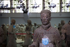 CHINA, XIAN - MARCH 14: Ping Ma Yong, Terra cotta army on 14 Mar Royalty Free Stock Photos