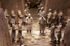 China/Xian:Terracotta Warriors and Horses Royalty Free Stock Photo