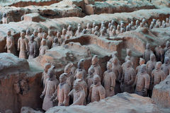 China/Xian:Terracotta Warriors and Horses Royalty Free Stock Photography