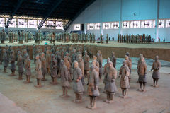 China/Xian:Terracotta Warriors and Horses Royalty Free Stock Photos