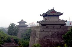 China Xian (Xi An) City Wall Royalty Free Stock Photo