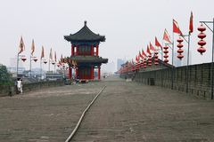 China Xian (Xi'an) City Wall Royalty Free Stock Images