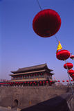 China Xian (Xi'an) City Wall Royalty Free Stock Photo