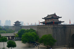 China Xian (Xi an) City Wall Stock Photography