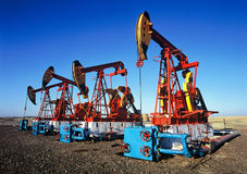 China/xijiang: oil pumping unit stock photo