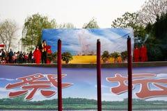 China Xingtai: Ceremonia ritual Fotos de archivo libres de regalías