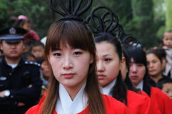 China Xingtai:Ritual ceremony Royalty Free Stock Photography