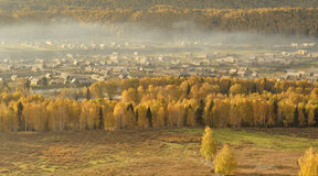 China/Xinjiang: mañana del otoño en hemu Imagen de archivo libre de regalías