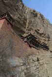 China Xuankong temple built in cliff Royalty Free Stock Image