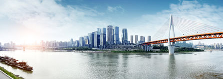 China y x27; horizonte de la ciudad de s Chongqing Foto de archivo