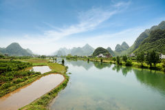 China yangshuo scenery Royalty Free Stock Photos