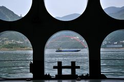 China Yangtze River Three Gorges scenic essence Royalty Free Stock Photo