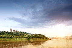 China Yangtze River town landscape Royalty Free Stock Photography