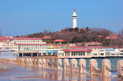 China  Yantai city Beacon Stock Photography