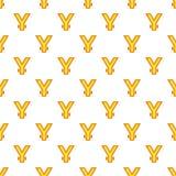 China yen currency symbol pattern, cartoon style. China yen sign pattern. Cartoon illustration of China yen currency symbol vector pattern for web Stock Image