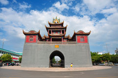 China, YinChuan  Drum Tower, NingXia Royalty Free Stock Photo