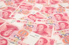 China yuan background Stock Photos
