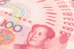 China yuan closeup Stock Image