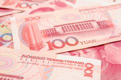 China yuan closeup Stock Photography