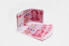 China yuan closeup. Closeup of china one hundred yuan bills Stock Image